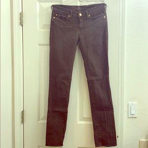 Seven brown velvety straight leg jeans size 28